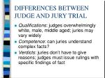 differences between judge and jury trial