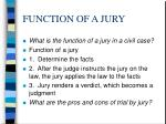function of a jury1