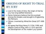 origins of right to trial by jury