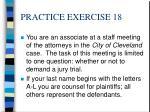 practice exercise 18