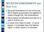 seventh amendment and state law
