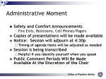 administrative moment