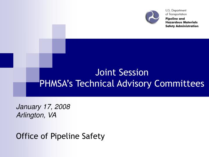 joint session phmsa s technical advisory committees n.