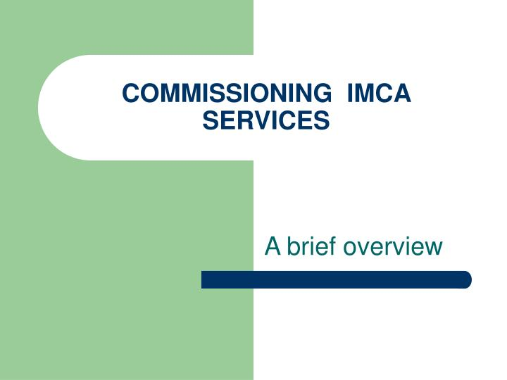 commissioning imca services n.