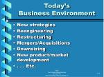 today s business environment