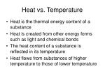 heat vs temperature