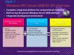 myth 1 windows hpc server 2008 r2 sp2 overview