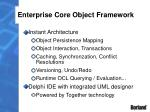 enterprise core object framework