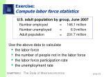 exercise compute labor force statistics