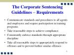 the corporate sentencing guidelines requirements1