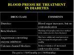 blood pressure treatment in diabetes