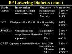 bp lowering diabetes cont