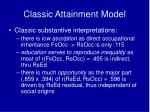 classic attainment model