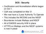 dcs security
