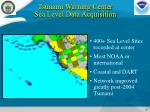 tsunami warning center sea level data acquisition