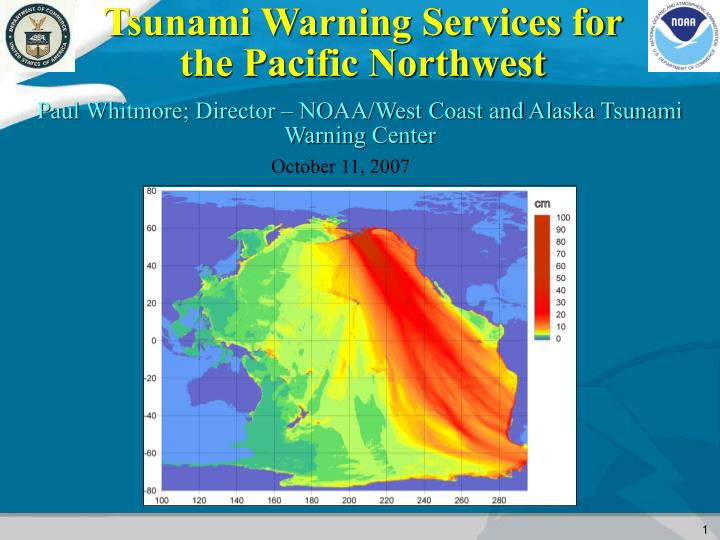 tsunami warning services for the pacific northwest n.