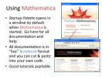 using mathematica