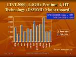 cint2000 3 4ghz pentium 4 ht technology d850md motherboard