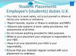 employee s students duties u k