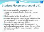 student placements out of u k3