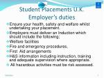 student placements u k employer s duties