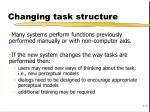 changing task structure