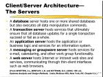client server architecture the servers