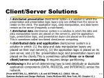 client server solutions