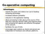 co operative computing