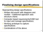 finalising design specifications3