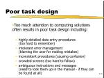 poor task design