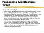 processing architecture types1