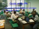 goals of the pa