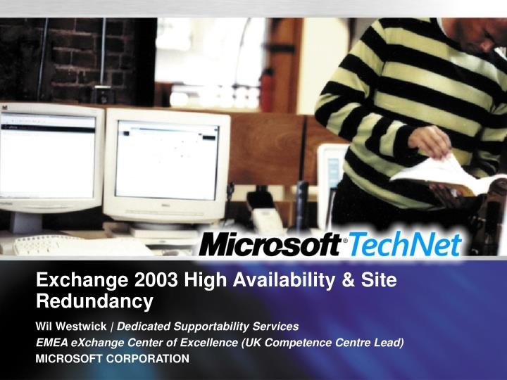 exchange 2003 high availability site redundancy n.
