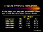 the ageing of mortality improvement3