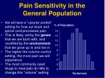 pain sensitivity in the general population