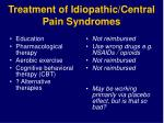 treatment of idiopathic central pain syndromes