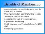 benefits of membership
