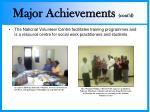 major achievements cont d