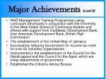 major achievements cont d1