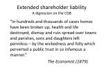 extended shareholder liability a digression on the cgb2