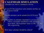 calendar simulation