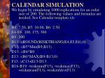 calendar simulation1
