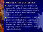 correlated variables