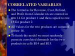 correlated variables4
