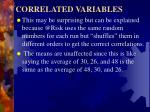 correlated variables7