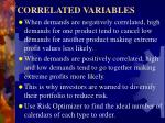 correlated variables9
