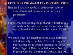 fitting a probability distribution