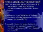 fitting a probability distribution1