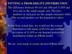 fitting a probability distribution2